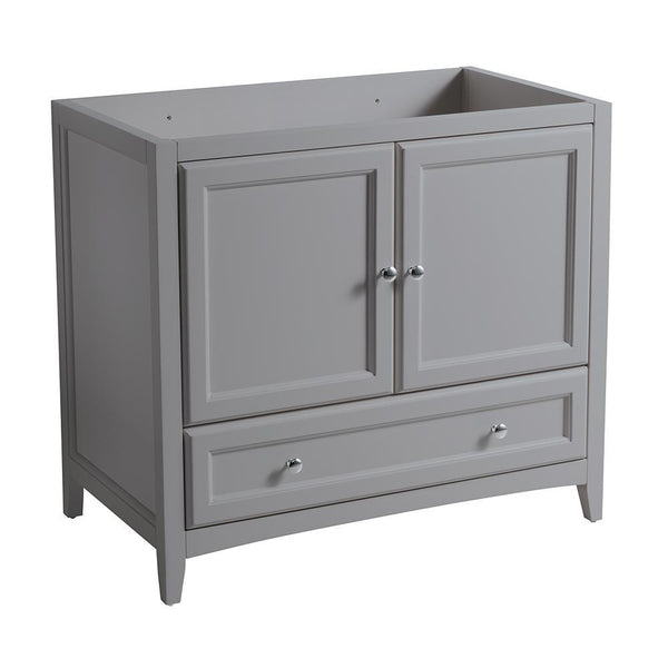 "Fresca Oxford 36"" Gray Traditional Bathroom Cabinet"