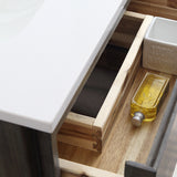 "Fresca Formosa 60"" Wall Hung Single Sink Modern Bathroom Cabinet w/ Top  Sink 