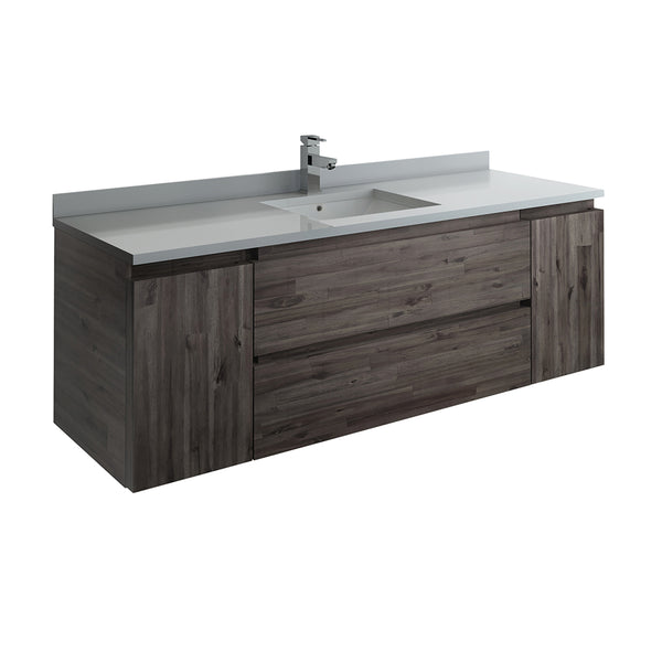 "Fresca Formosa 59"" Wall Hung Single Sink Modern Bathroom Cabinet 