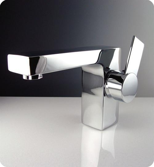 Fresca Isarus Single Hole Mount Bathroom Vanity Faucet - Chrome