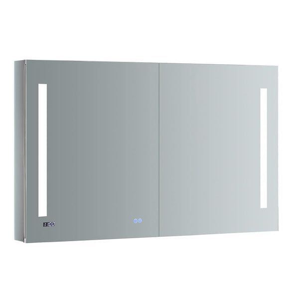 "Fresca Tiempo 48"" Wide x 30"" Tall Bathroom Medicine Cabinet w/ LED Lighting & Defogger"