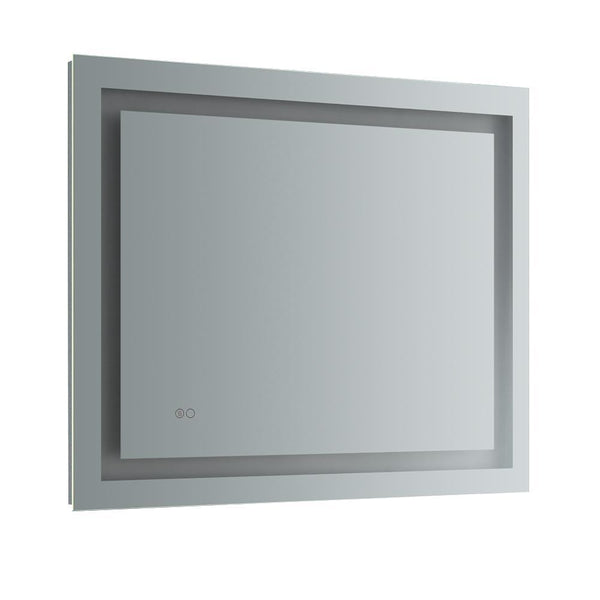 "Fresca Santo 36"" Wide x 30"" Tall Bathroom Mirror w/ LED Lighting and Defogger"