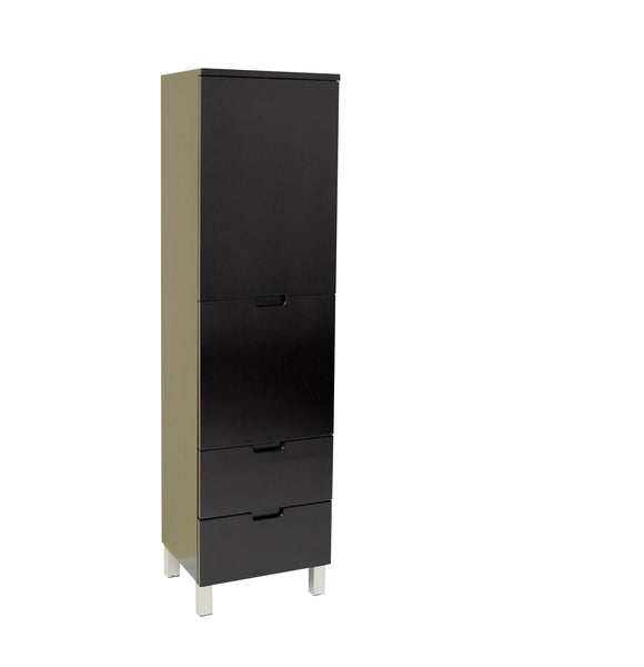 Fresca Espresso Bathroom Linen Side Cabinet w/ 4 Storage Areas