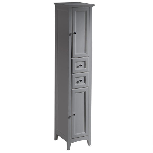 "Fresca Oxford 14"" Gray Tall Bathroom Linen Cabinet"