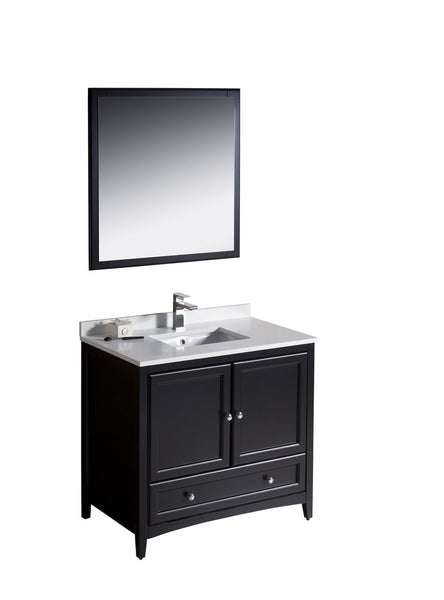 "Fresca Oxford 36"" Traditional Bathroom Vanity"