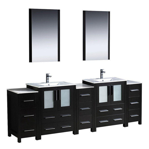 "Fresca Torino 84"" Integrated Double Sink Vanity"