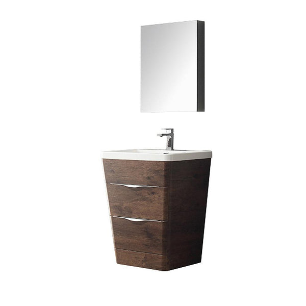 "Fresca Milano 26"" Chestnut Bathroom Vanity"