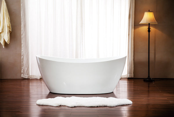 "Streamline 59"" Soaking Freestanding Tub With Internal Drain"