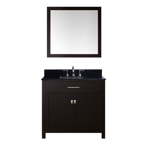 "Virtu USA Caroline 36"" Single Bathroom Vanity w/ Sink, Faucet, Mirror"