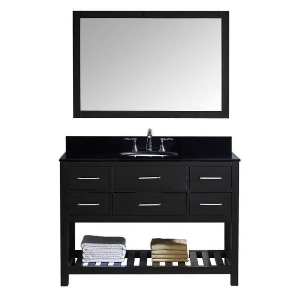 "Virtu USA Caroline Estate 48"" Single Bathroom Vanity w/ Sink, Mirror"