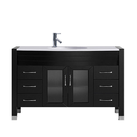 "Virtu USA Ava 48"" Single Bathroom Vanity w/ Engineered Stone Top, Sink, Faucet"