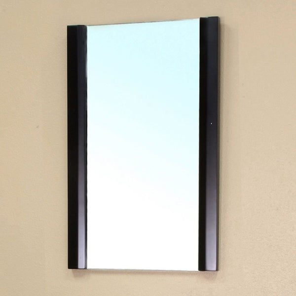 "Bellaterra Home 20"" Black Wood Framed Mirror - 203102-Mirror - Bath Vanity Plus"