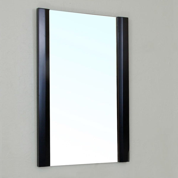 "Bellaterra Home 20"" Black Wood Framed Mirror - 203105-Mirror - Bath Vanity Plus"