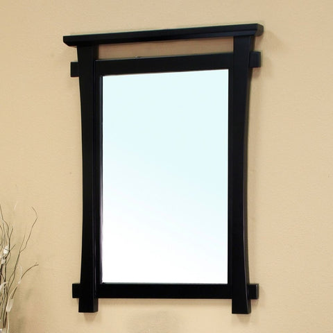 "Bellaterra Home 28"" Black Wood Framed Mirror - 203012-Mirror - Bath Vanity Plus"
