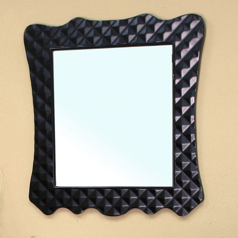 "Bellaterra Home 32"" Black Wood Framed Mirror - 203057B-Mirror - Bath Vanity Plus"
