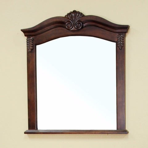 "Bellaterra Home 34"" Walnut Wood Framed Mirror - 202016A-Mirror - Bath Vanity Plus"