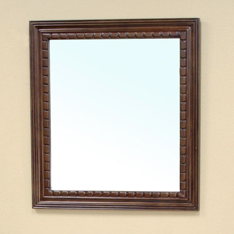 "Bellaterra Home 36"" Walnut Wood Framed Mirror - 203045-Mirror - Bath Vanity Plus"