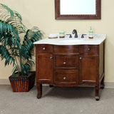"Bellaterra Home 39"" Walnut Wood Single Sink Vanity Set - 203045 - Bath Vanity Plus"
