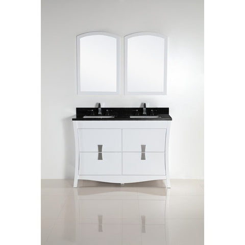 "Bellaterra Home 48"" Double sink vanity with Black Galaxy top - 500701-48D-BG - Bath Vanity Plus"