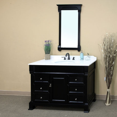 "Bellaterra Home 60"" Espresso Wood Single Sink Vanity Set - 205060-S-ES - Bath Vanity Plus"