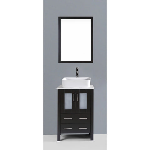 "Bosconi 24"" Single Vanity - AB124RC - Bath Vanity Plus"