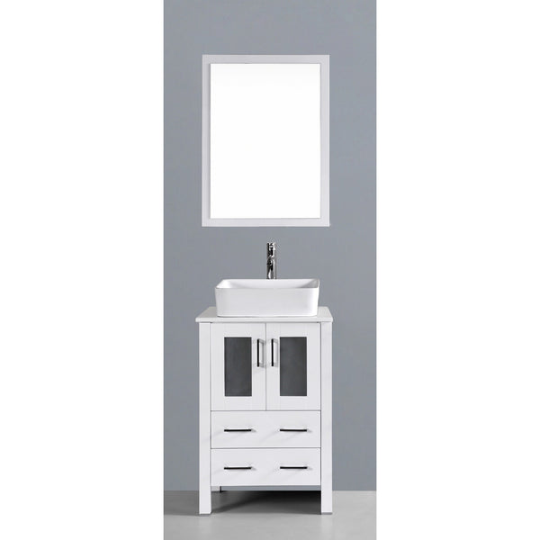 "Bosconi 24"" Single Vanity - AW124RC - Bath Vanity Plus"