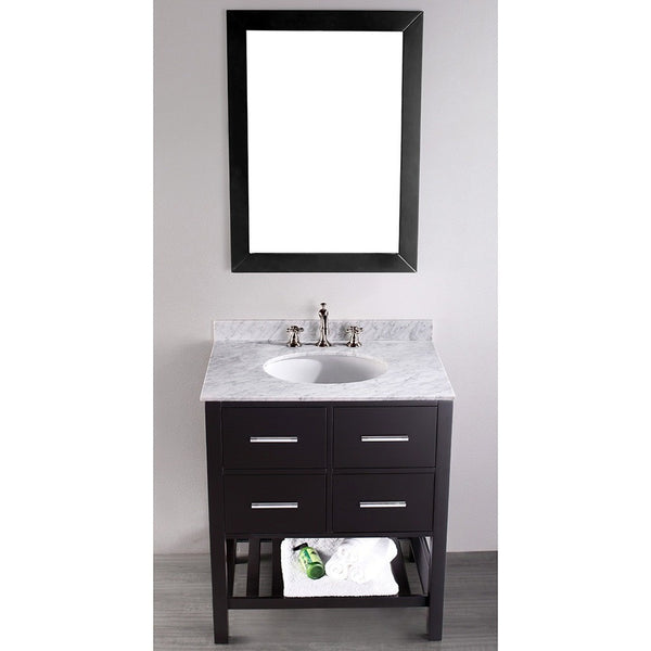 Bosconi 30'' Contemporary Single Vanity - SB-250-1 - Bath Vanity Plus