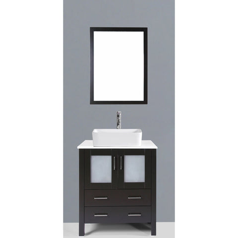 "Bosconi 30"" Single Vanity - AB130RC - Bath Vanity Plus"