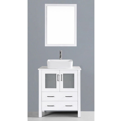 "Bosconi 30"" Single Vanity - AW130RC - Bath Vanity Plus"