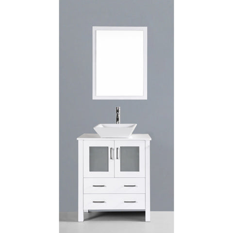 "Bosconi 30"" Single Vanity - AW130S - Bath Vanity Plus"