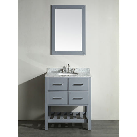 Bosconi 30'' Single Vanity - SB-250-1GR - Bath Vanity Plus
