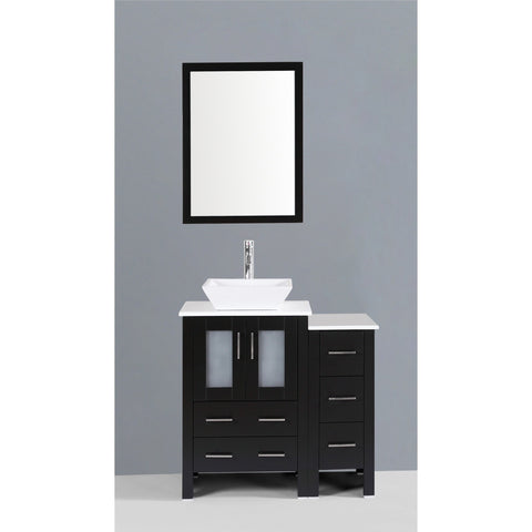 "Bosconi 36"" Single Vanity - AB124S1S - Bath Vanity Plus"