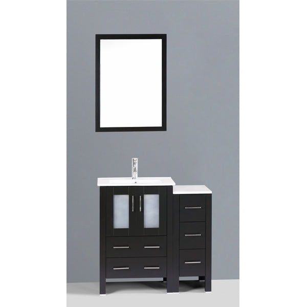 "Bosconi 36"" Single Vanity - AB124U1S - Bath Vanity Plus"