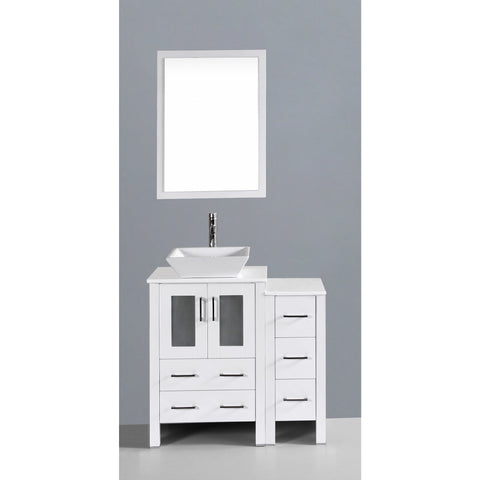 "Bosconi 36"" Single Vanity - AW124S1S - Bath Vanity Plus"