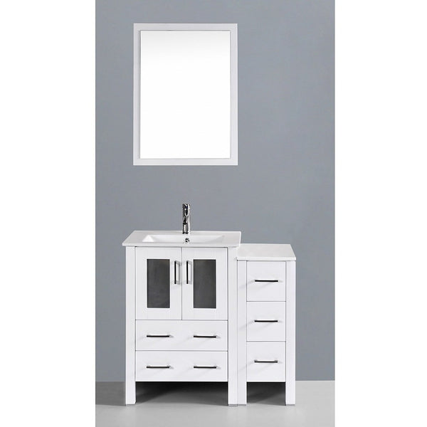 "Bosconi 36"" Single Vanity - AW124U1S - Bath Vanity Plus"