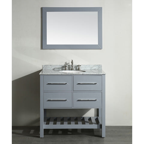 "Bosconi 36"" Single Vanity SB-250-3GR - Bath Vanity Plus"