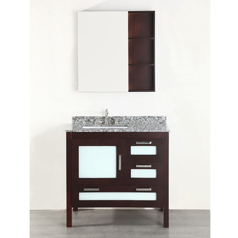 "Bosconi 37"" Contemporary Single Vanity - SB-251-1 - Bath Vanity Plus"