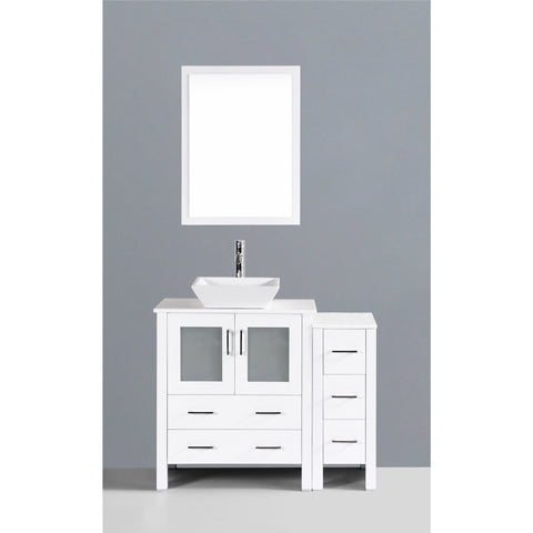 "Bosconi 42"" Single Vanity - AW130S1S - Bath Vanity Plus"