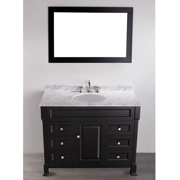 "Bosconi 43"" Contemporary Single Vanity in Black - SB-278 - Bath Vanity Plus"