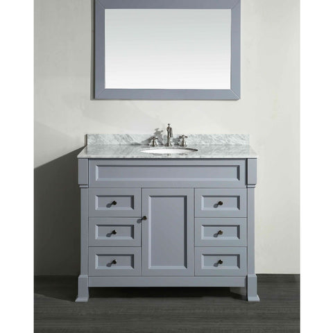 Bosconi 43'' Single Vanity in Gray - SB-278GR - Bath Vanity Plus