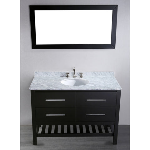 "Bosconi 47"" Contemporary Single Vanity - SB-250-4 - Bath Vanity Plus"