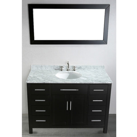 "Bosconi 47"" Contemporary Single Vanity - SB-252-3 - Bath Vanity Plus"