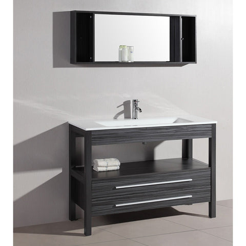 "Bosconi 48"" Contemporary Single Vanity - A-5243 - Bath Vanity Plus"