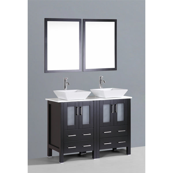 "Bosconi 48"" Double Vanity - AB224S - Bath Vanity Plus"