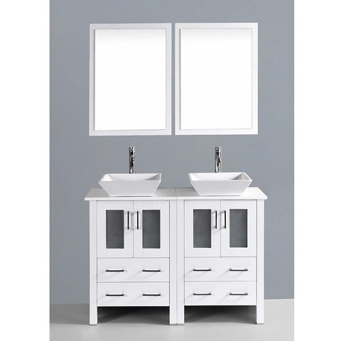 "Bosconi 48"" Double Vanity - AW224S - Bath Vanity Plus"