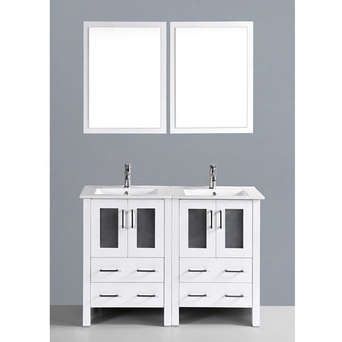 "Bosconi 48"" Double Vanity - AW224U - Bath Vanity Plus"