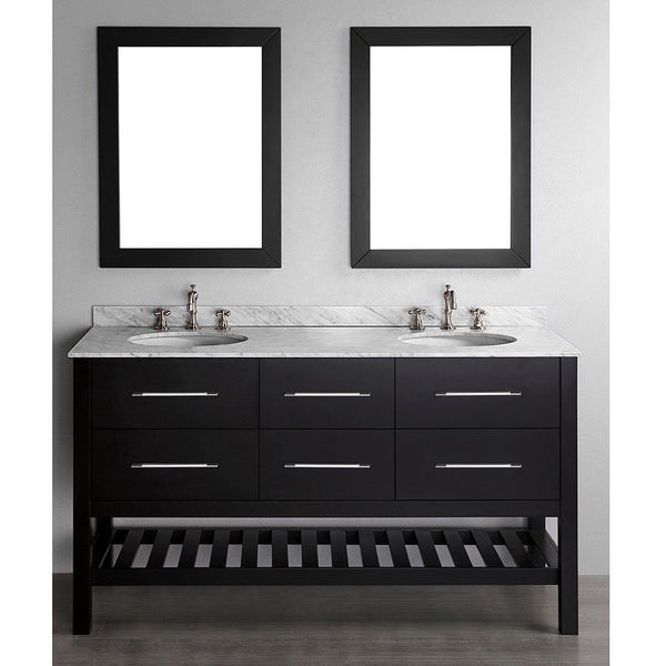 "Bosconi 60"" Contemporary Double Vanity - SB-250-5 - Bath Vanity Plus"