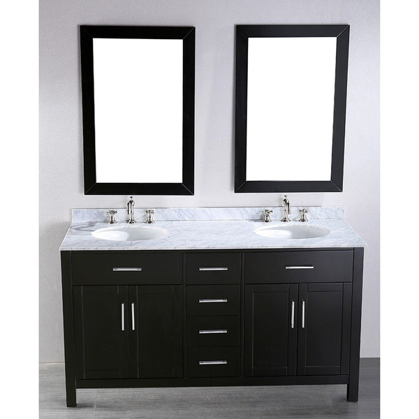 Bosconi 60'' Contemporary Double Vanity - SB-252-4 - Bath Vanity Plus