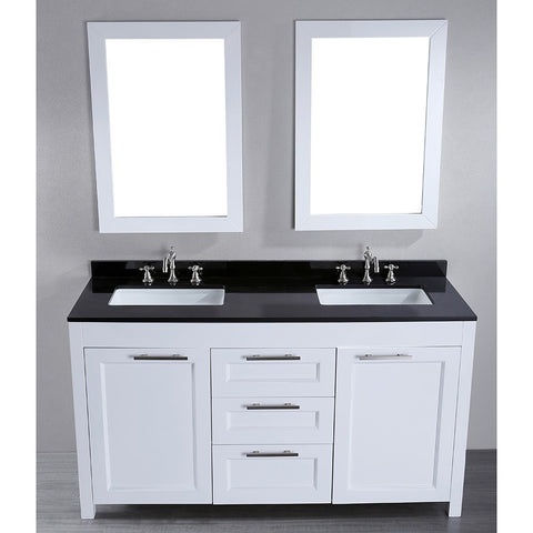 Bosconi 60'' Contemporary Double Vanity - SB-267 - Bath Vanity Plus