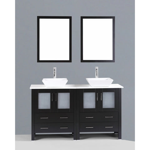 "Bosconi 60"" Double Vanity -  AB230S - Bath Vanity Plus"